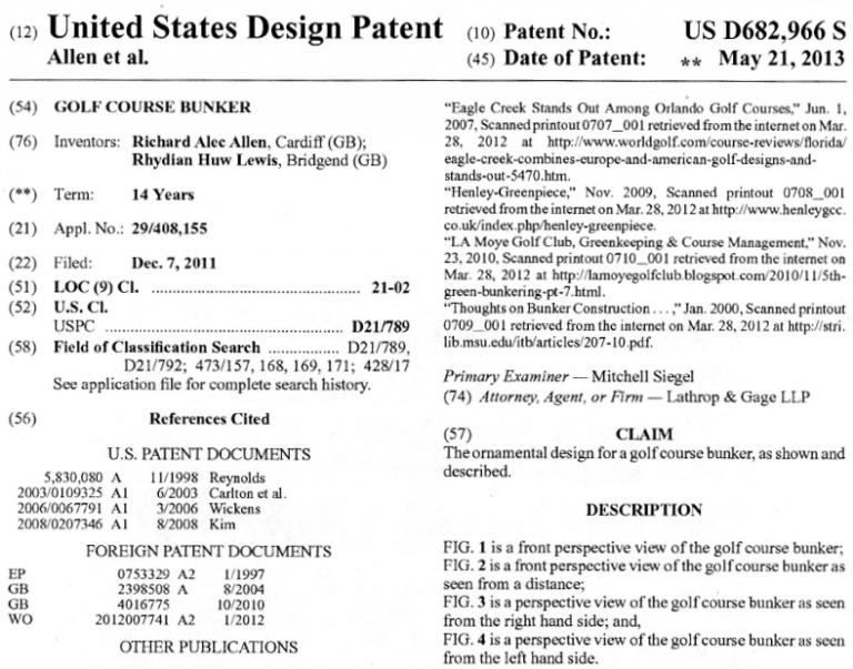 Durabunker Patent